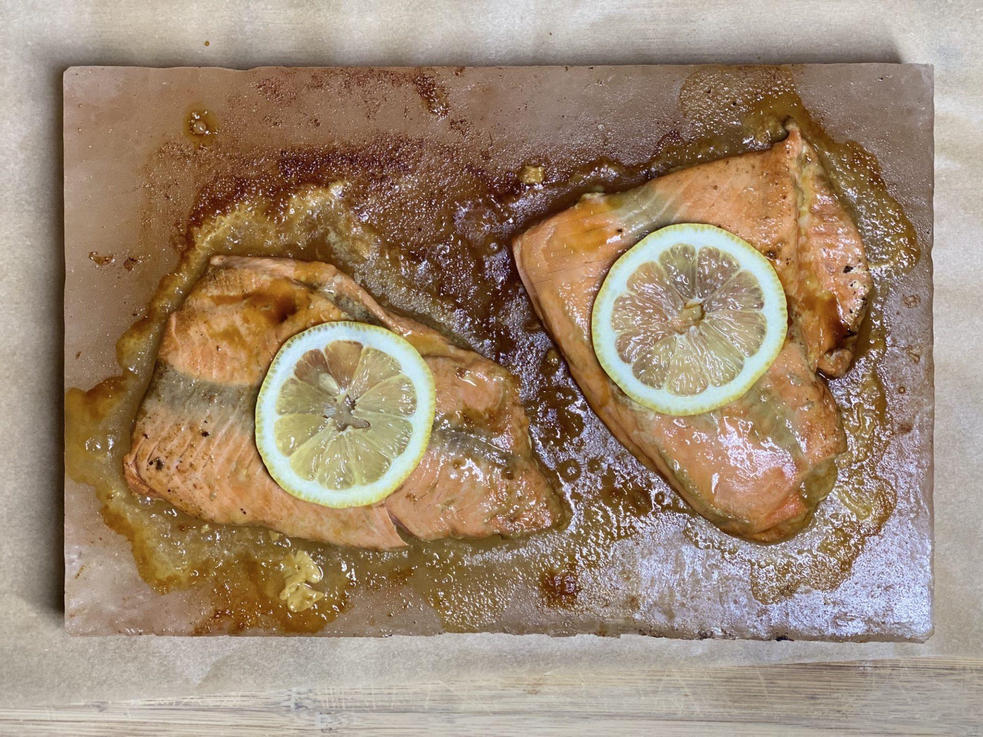 Himalayan Salt Block Salmon Recipe - Low Carb, Keto, THM Friendly