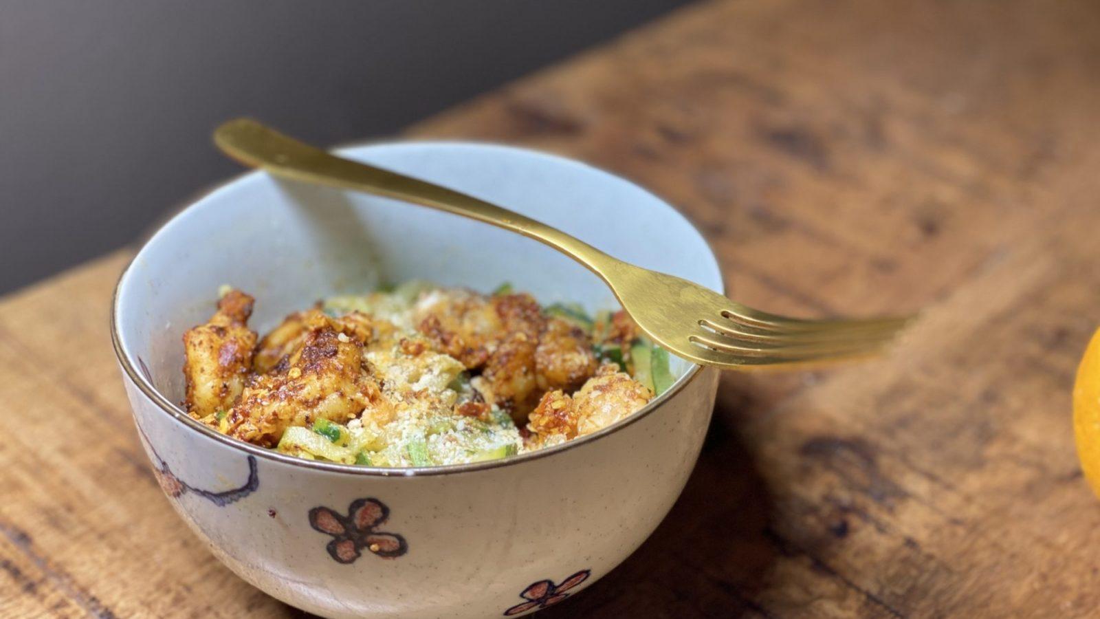 Lemon Garlic Parmesan Shrimp Zoodles - Low Carb, Keto, Thm Friendly 2