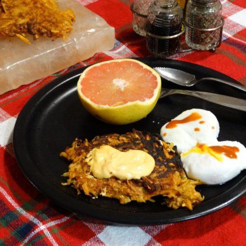 Salt Block Sweet Potato Fritters with Harissa Spiced Mayo 2
