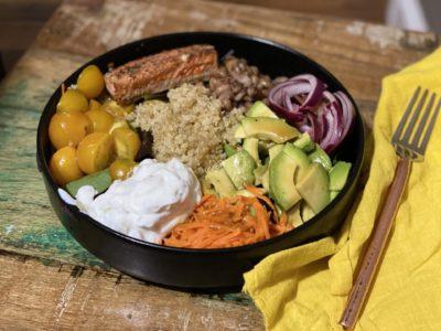 Salt Block Salmon and Tzatziki Bowl 2