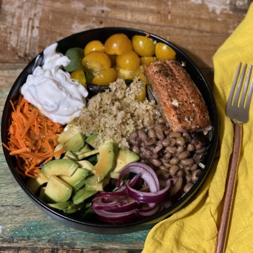 Salt Block Salmon and Tzatziki Bowl 4