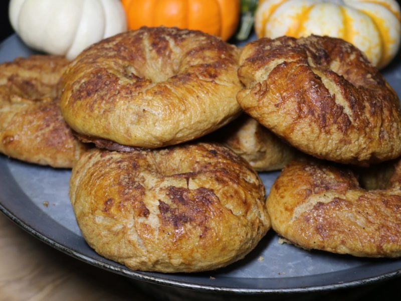 Pumpkin Spice and Coconut Sugar Bagels