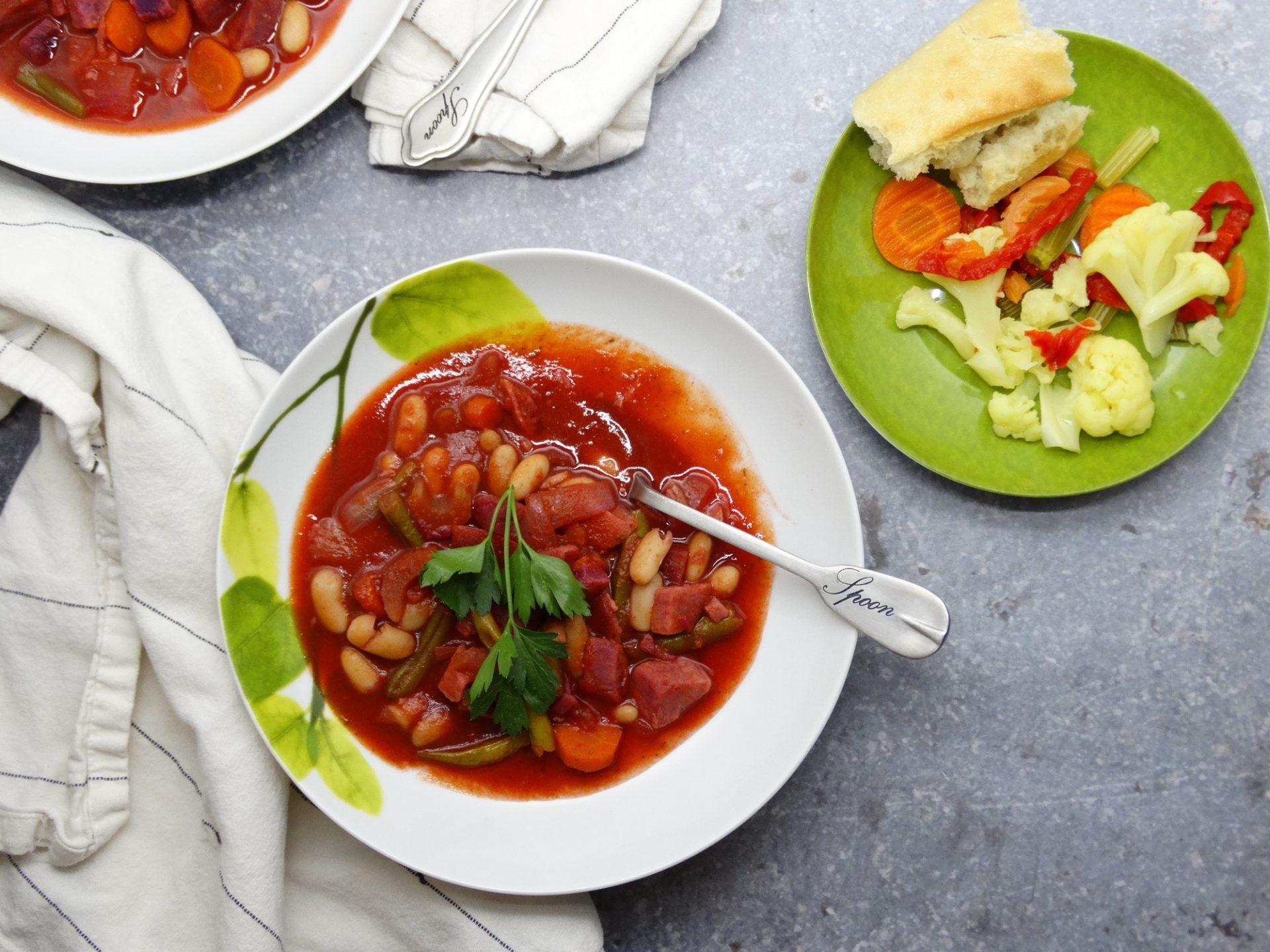 Minestrone Soup Recipe with Purple Sweet Potatoes 1