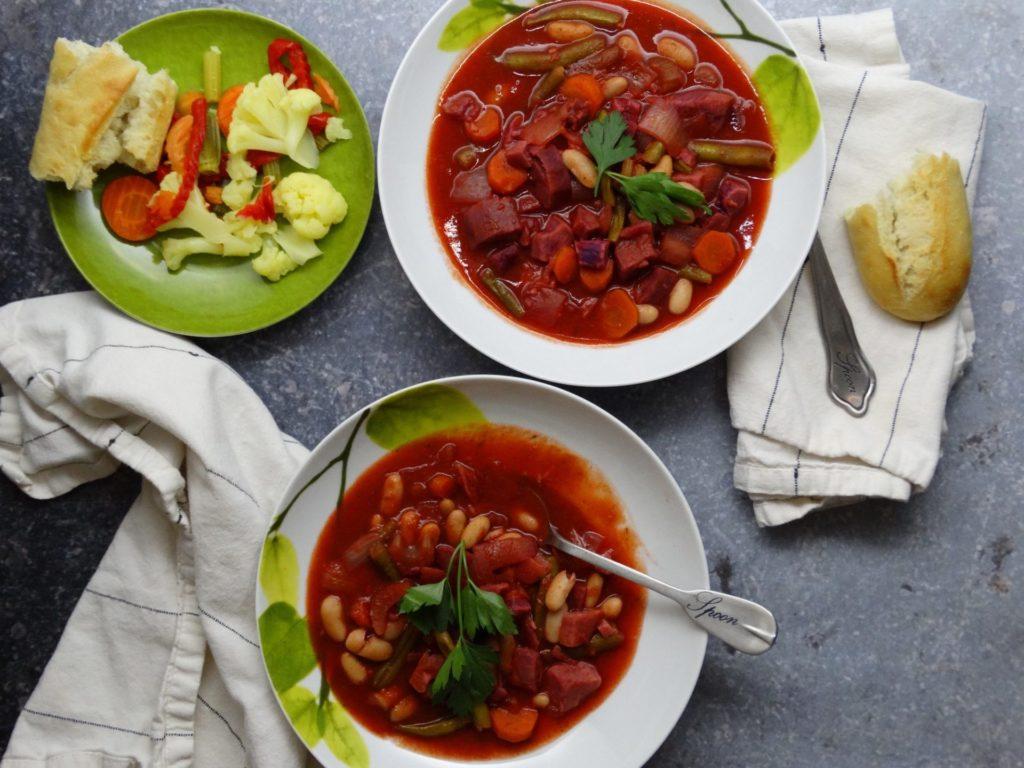 Minestrone Soup Recipe with Purple Sweet Potatoes 2