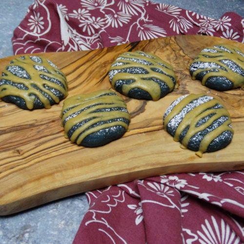 Tahini Glazed Purple Sweet Potato Cakies 3
