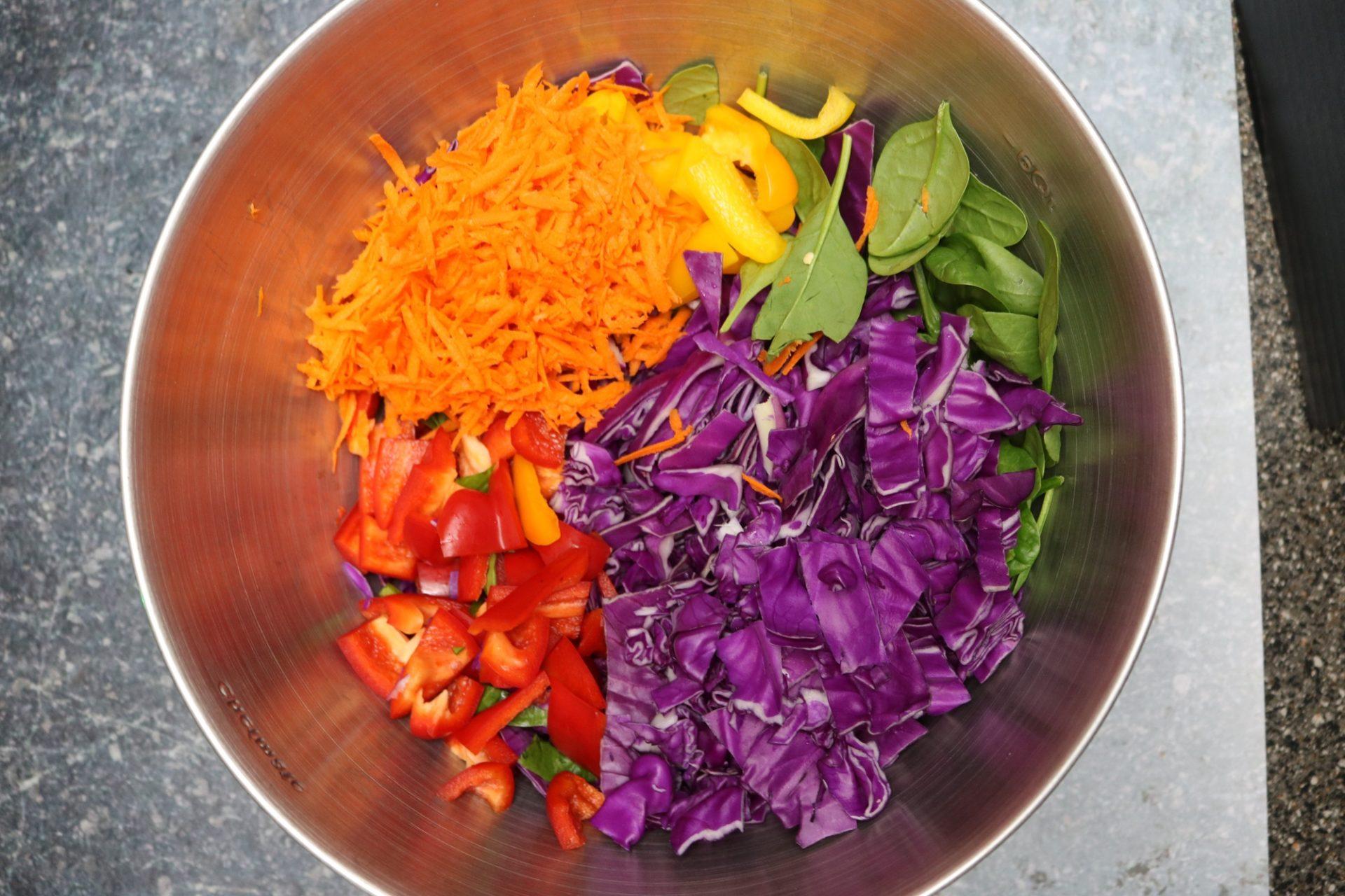 Organic Low-Carb Asian Rainbow Salad Recipe 1
