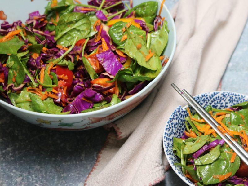 Organic Low-Carb Asian Rainbow Salad Recipe 2