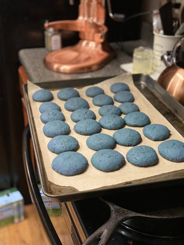 Tahini Glazed Purple Sweet Potato Cookies 2
