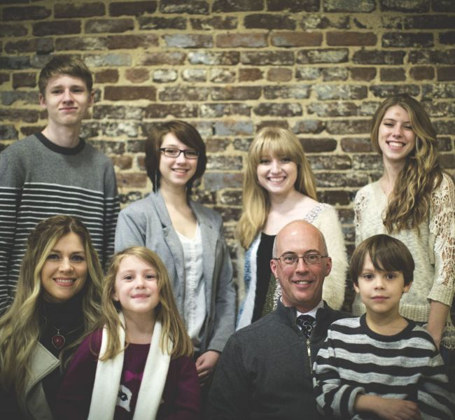 Rebecca Huff with her family