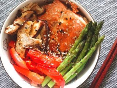 Teriyaki Salmon Bowl Recipe with Easy Ingredient Matrix 3