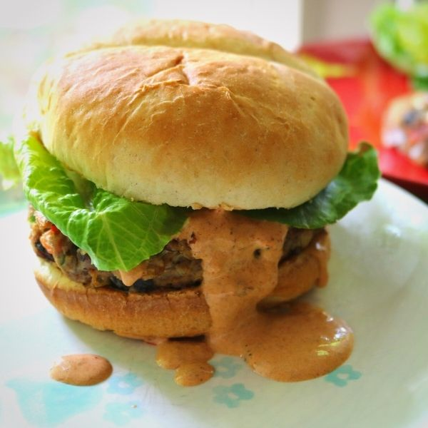 Cajun Black Bean and Chicken Fiesta Patties with Chipotle Mayo 2